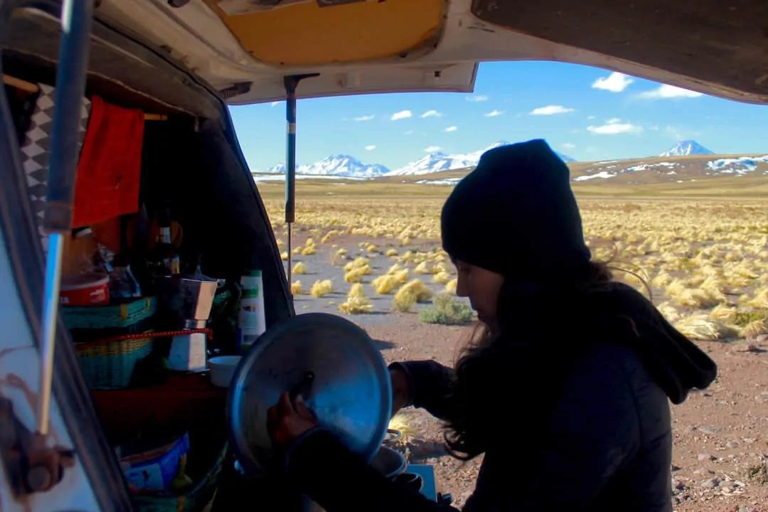 Overlanding means cooking for yourself
