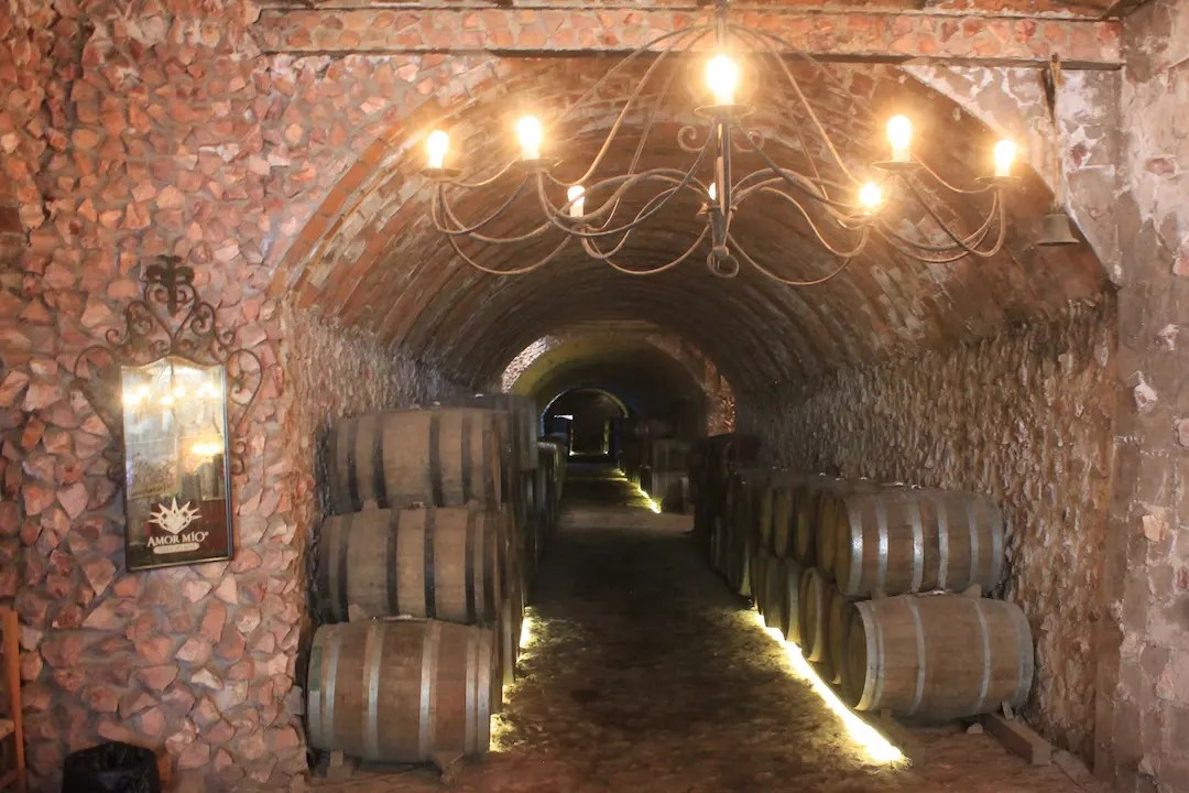 The cellar at Tres Mujeres