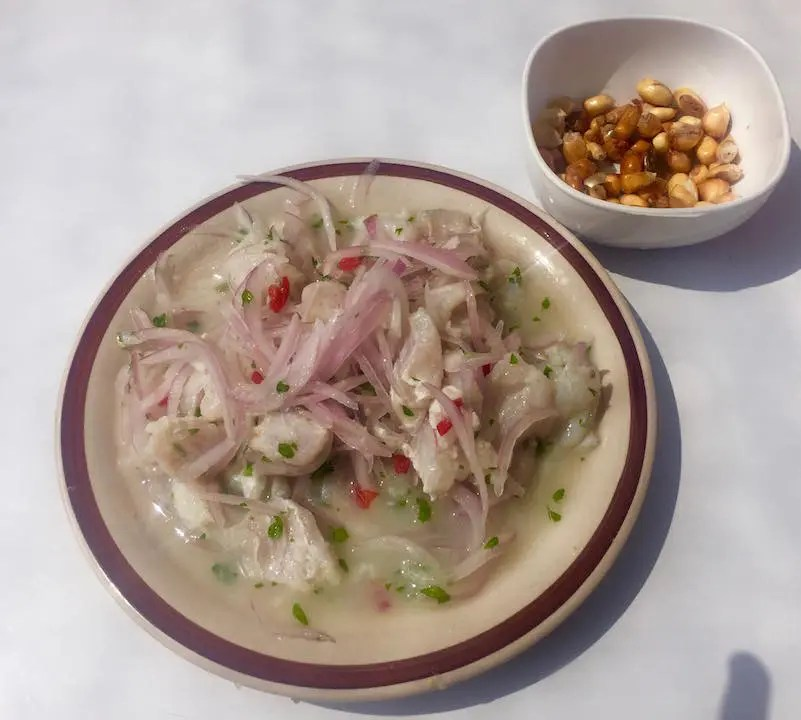 A plate of delicious Peruvian ceviche should be on any one day trip in Lima itinerary.
