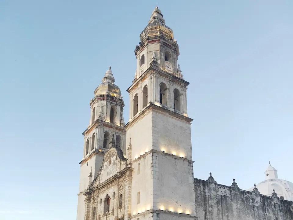 Campeche's central church the Iglesia de San Roque y San Francisquito