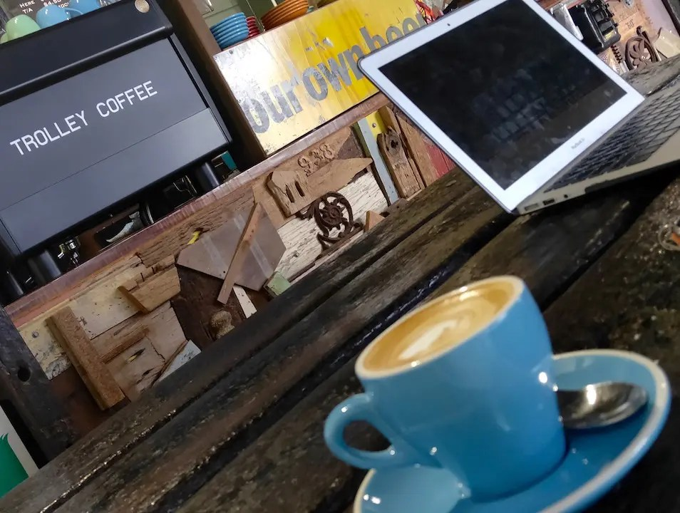 Check out Trolley Coffee on your way to or from the Atherton Tablelands
