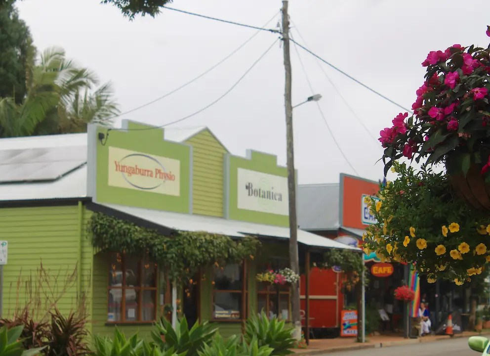 The streets of Yungaburra in Atherton Tablelands.