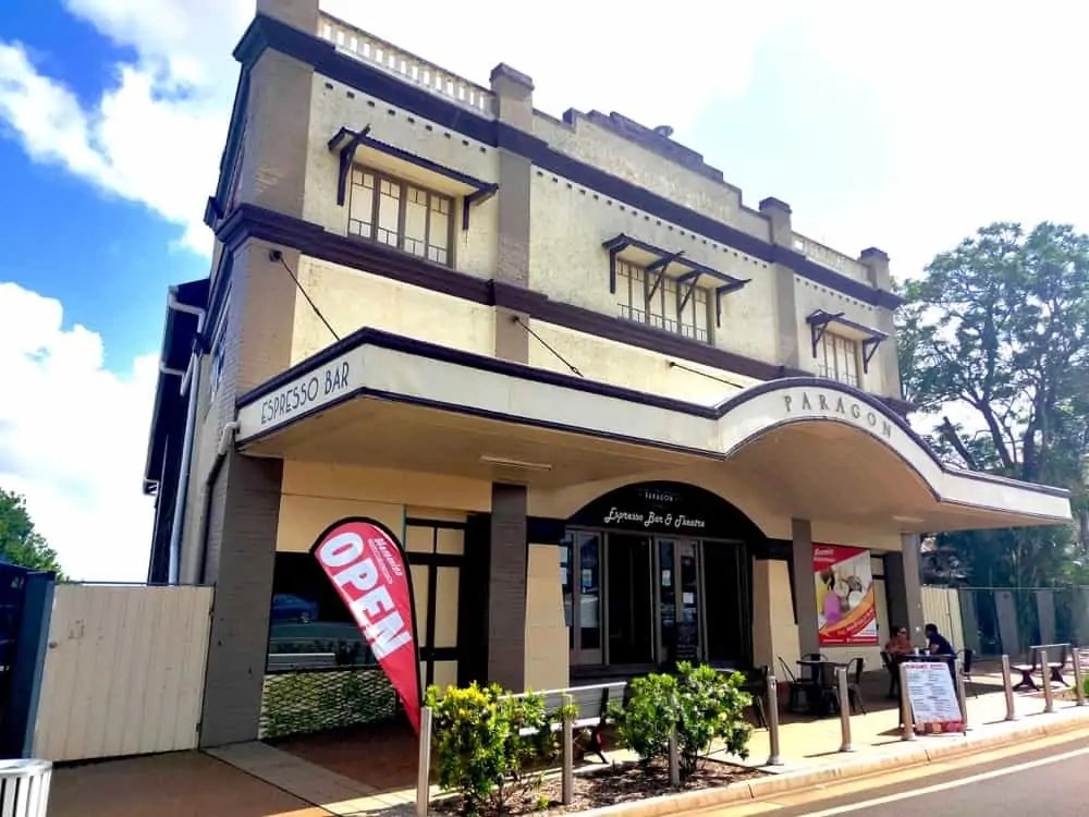 The Paragon, is one of the most recognizable buildings in town and one of the best things to do in Childers