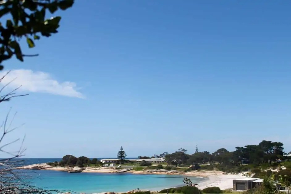 A view of the bay in Bicheno on the Great Eastern Drive Tasmania