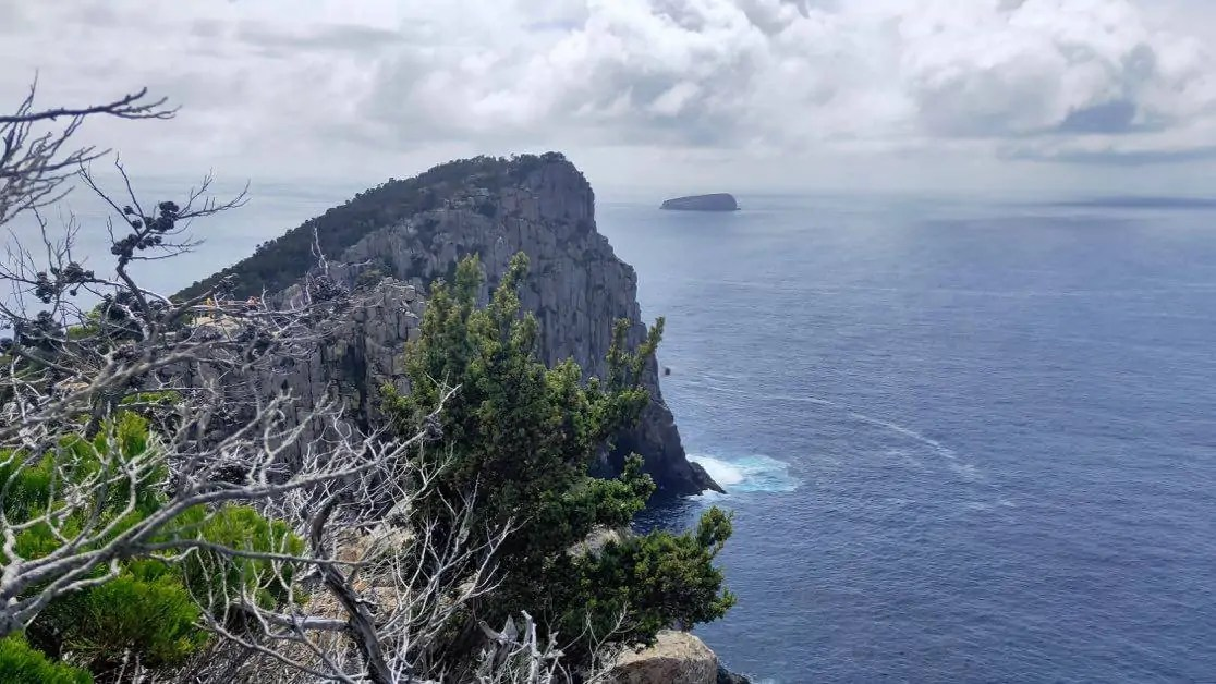 A picture of Cape Hauy from the Cape Hauy Walk on the Tasman Peninsula