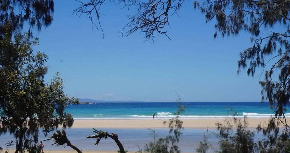 The beautiful blue-green waters of Minjerribah, North Stradbroke Island.