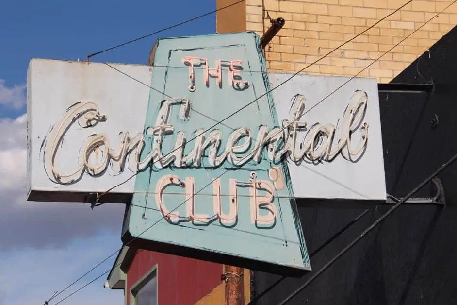The famous Continental Club in Austin during the day