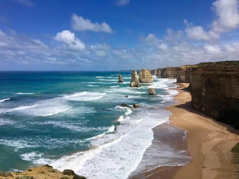 The Twelve Apostles on the Melbourne to Adelaide Road Trip