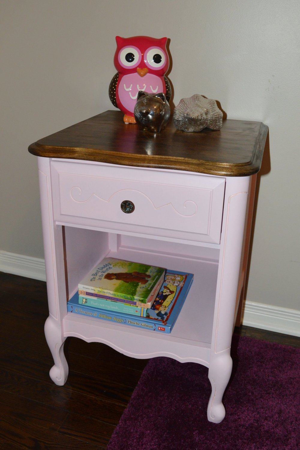 pink side table furniture flip