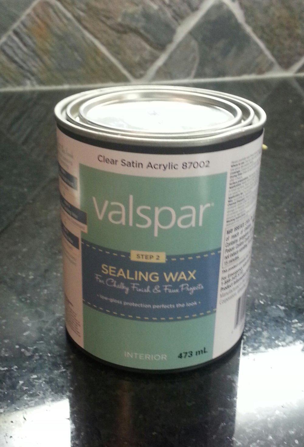 valspar sealing wax