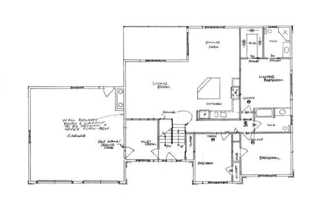 Raised bungalow floor plan owner builder