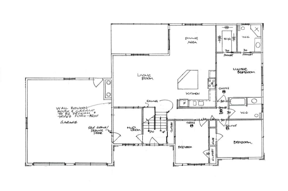 open concept raised bungalow floor plan