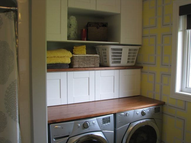Raised bungalow laundry room