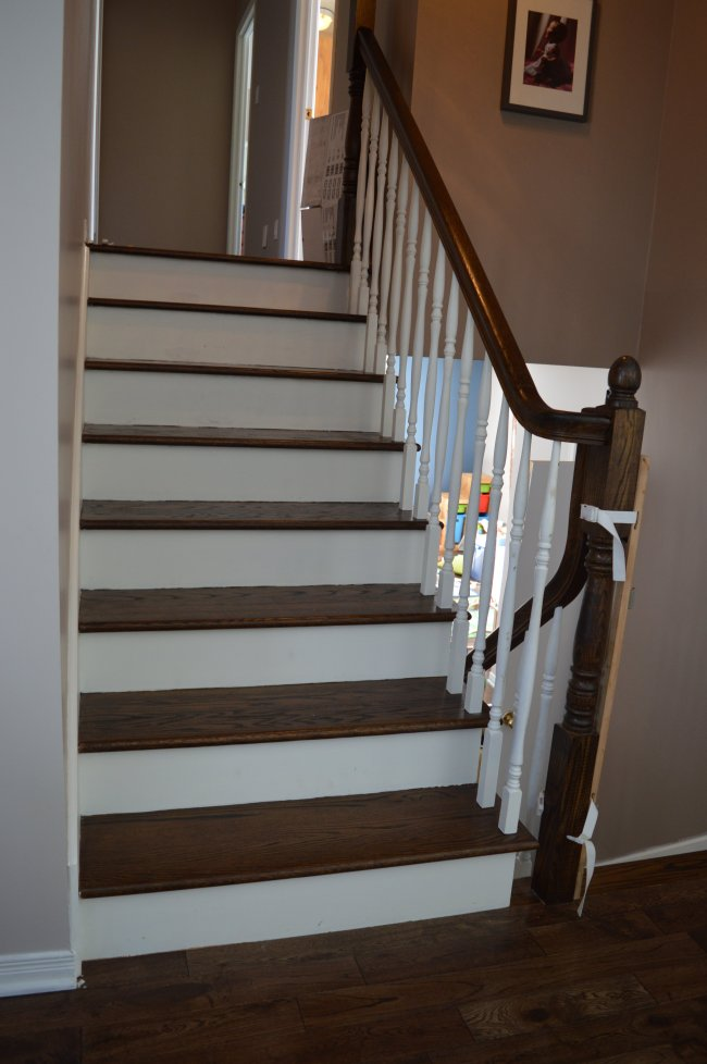 minxwax jacobean stain on stairs