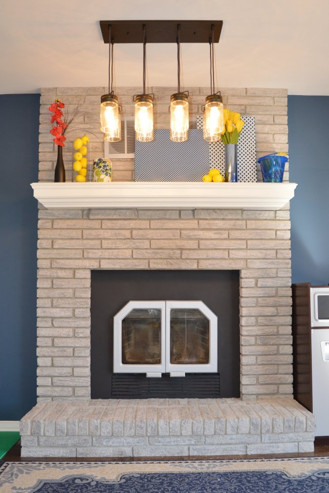 Family Room Makeover With Updated Fireplace And Hardwood Floors