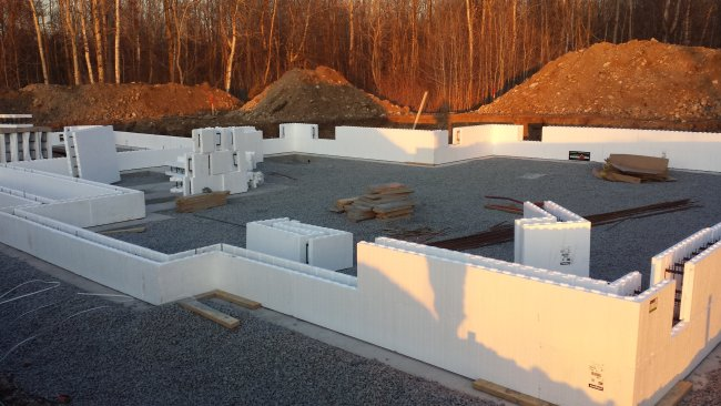 Fox block insulated concrete forms ICF foundation