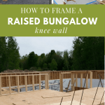 how to frame a knee wall