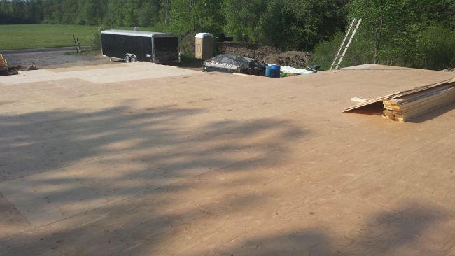 Plywood subloor. Owner builder raised bungalow