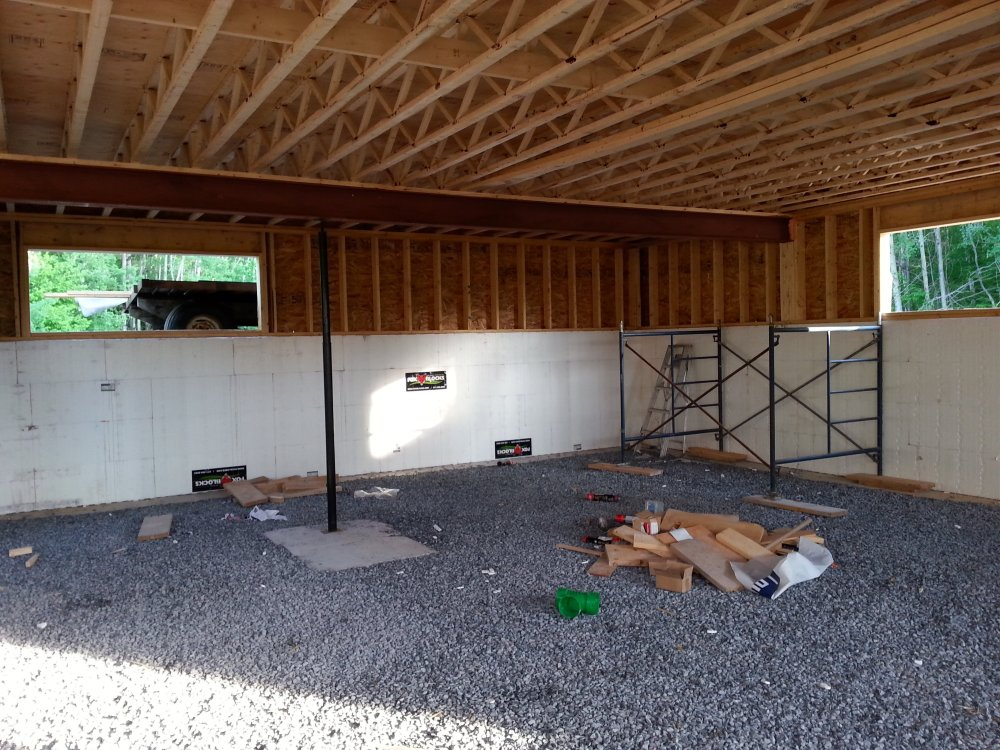 House framing by an owner builder in Ontario