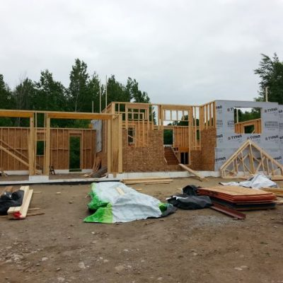 Week 7: Continuing the house framing of our new home construction