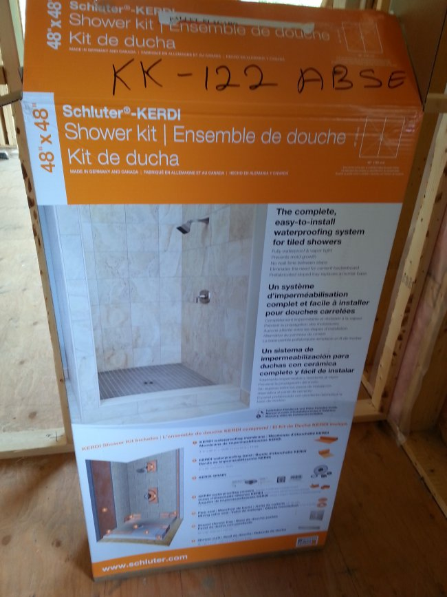 Schluter kerdi shower in a box