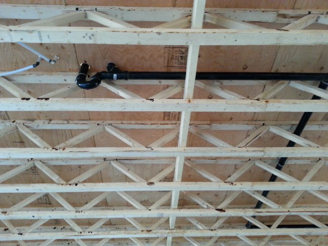 plumbing and interior framing