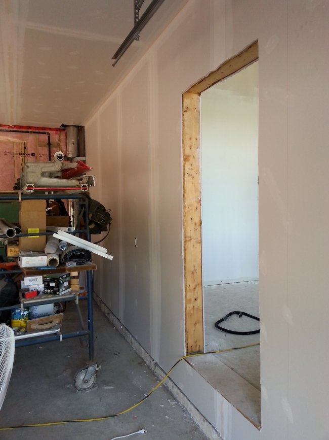 new drywall stage of construction
