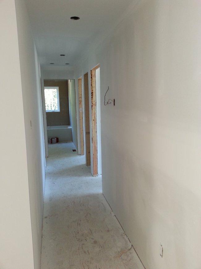 New drywall hallway
