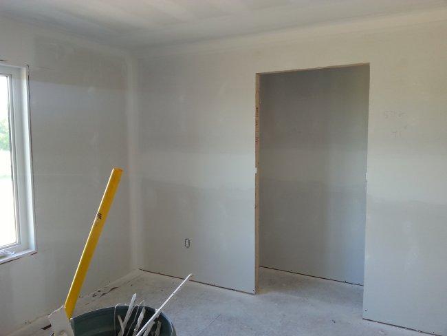 bedroom drywall