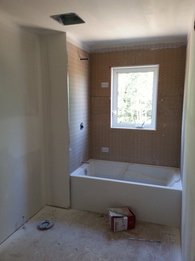 Main bathroom new drywall
