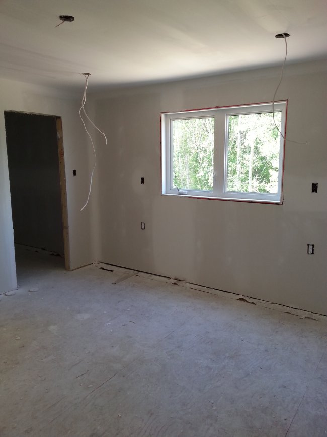 master bedroom drywall