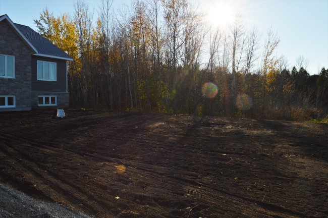 Rural septic system for a raised bungalow
