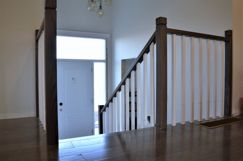 Zen oak handrail stained a dark brown