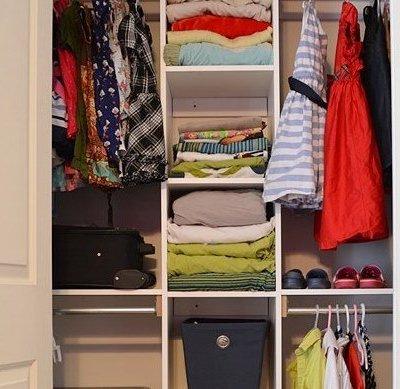 Custom Closet Organization With Built In Shelving