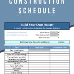 custom home construction schedule