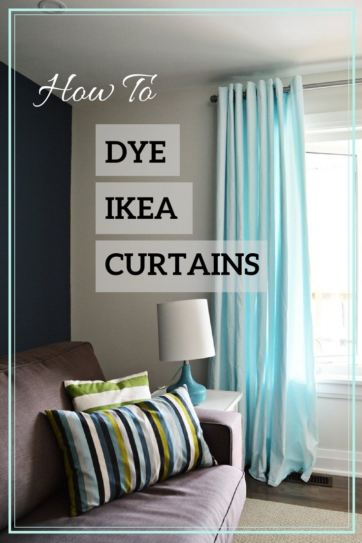 Aqua Blue IKEA MERETE Curtain Hack • The Vanderveen House