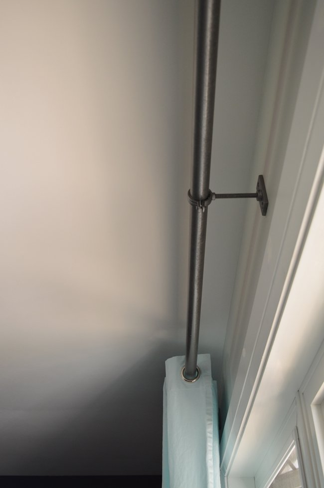 PVC pipe curtain rod