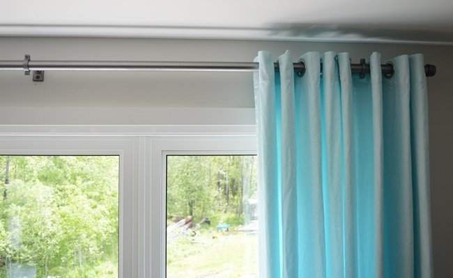 How to dye curtains