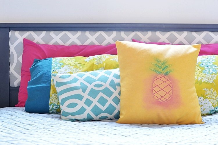 watercolor pineapple pillow by vanderveen house