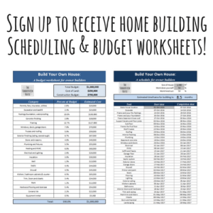 home building worksheets