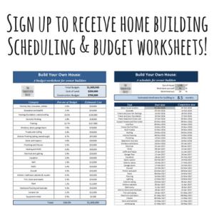 home building worksheets