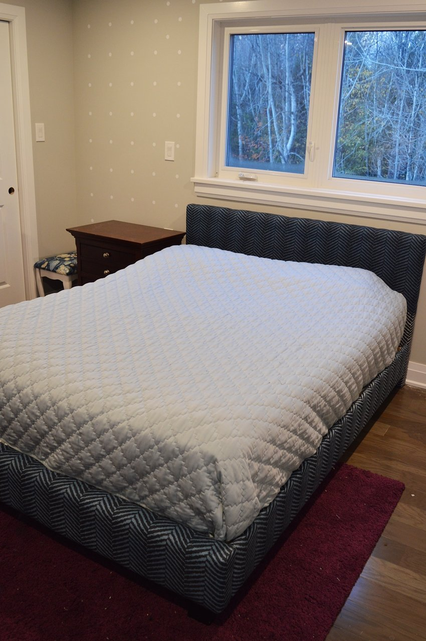 master bedroom bed makeover