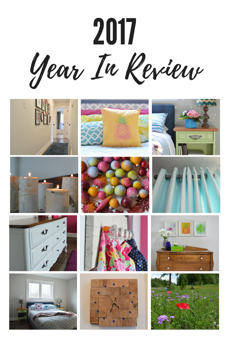 Ontario DIY blog 2017 year in review. Colorful home decor and do-it-yourself projects