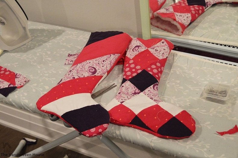 How to make DIY Christmas stockings from baby clothes