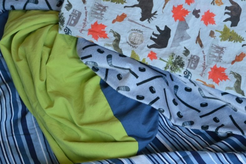 blue green and grey boys bedroom