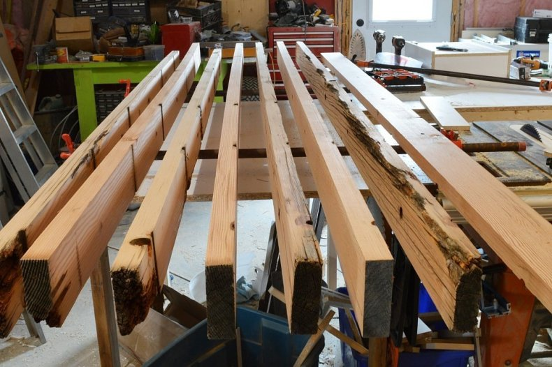 how to make a reclaimed fir desk