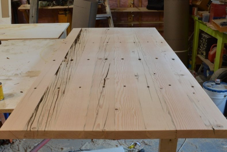 reclaimed fir desk