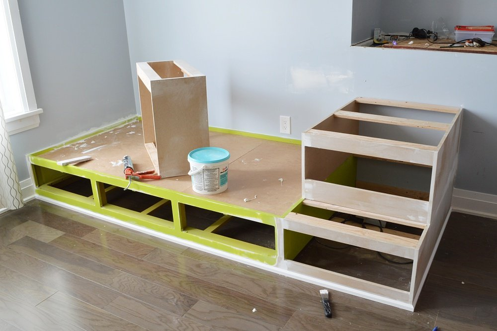 shared boys bedroom built in loft bed