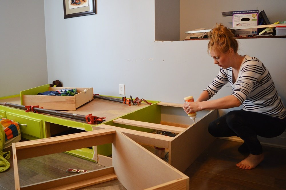 using a biscuit joiner for built in loft bed