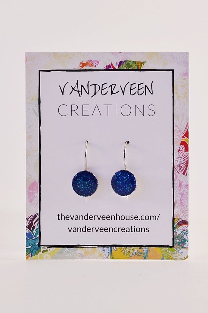 handmade glitter jewelry resin earrings